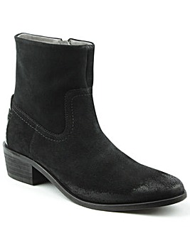 Hudson Western Block Heel Calf Boot