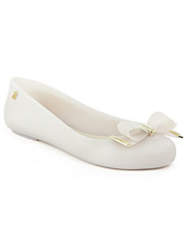 Melissa White Bow Ballerina Flat
