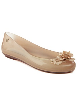 Melissa Nude Flower Ballet Flat