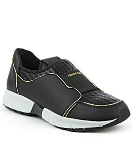Armani Jeans Slip On Black Trainer