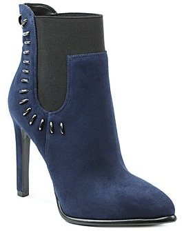 Kendal + Kylie Navy Studded Ankle Boot