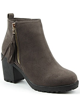 Daniel Beckside Grey Tassel Ankle Boot