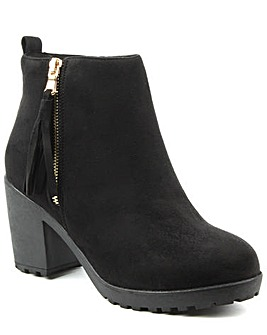 Daniel Beckside Black Tassel Ankle Boot