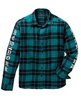 Label J Print Check Shirt Long
