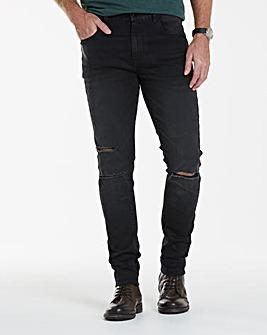 Label J Ripped Wash Skinny Jean 29In
