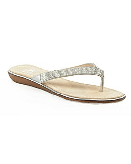 Daniel Stanlow Metallic Toe Post Sandal
