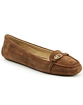 Michael Kors Tan Suede Driving Loafer