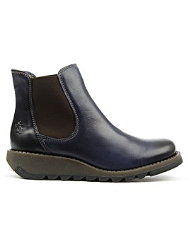 Fly London Blue Womens Chelsea Boot
