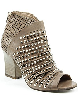 Daniel Westley Beige Peep Toe Boot