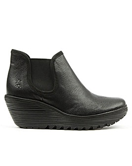 Fly London Mid Wedge Chelsea Boots
