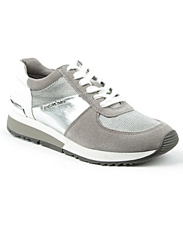 Michael Kors Silver Lace Up Trainer