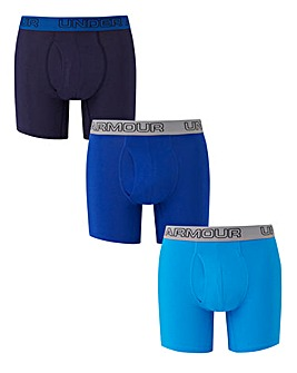 Under Armour Pack of 3 Stretch 6in Boxer