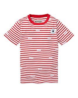 Converse Boys Logo Stripe T-Shirt