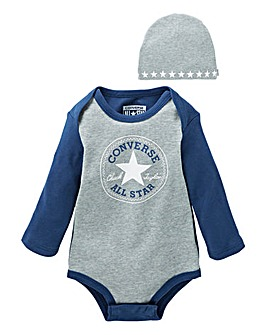 Converse Baby Body suit and Hat Set