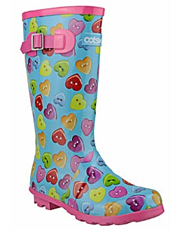 Cotswold Childrens Button Heart Wellies
