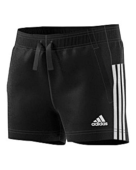 adidas Youth Girls Three Stripe Shorts