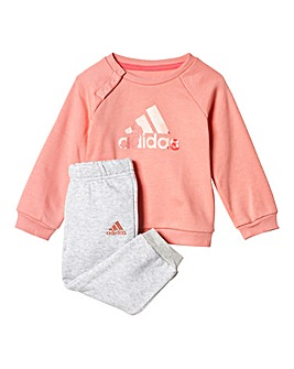 adidas Infant Girls Logo Jogsuit