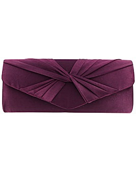 Twisted Front Clutch Bag