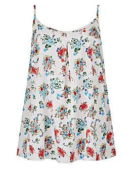 Multi Floral Strappy Cami Top
