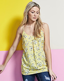Yellow Floral Strappy Cami Top