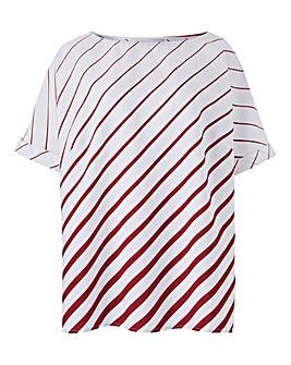 Berry Stripe Boxy Top