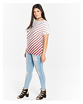 Berry Stripe Boxy Top