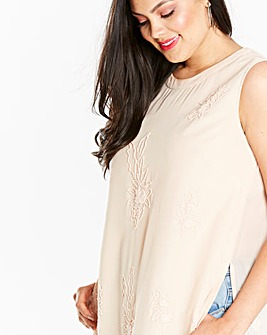 Blush Print Embellished Tunic