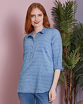Stripe Printed Chambray Shirt