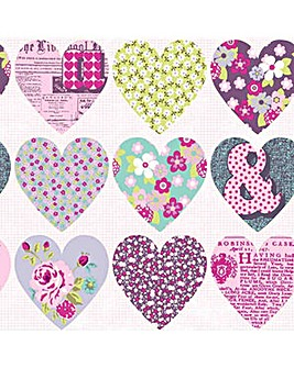 Arthouse Purple Hearts Wallpaper