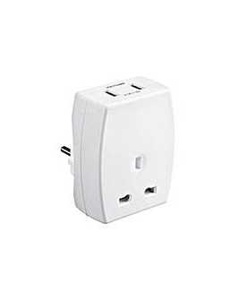 Masterplug USB Combined Travel Adaptor