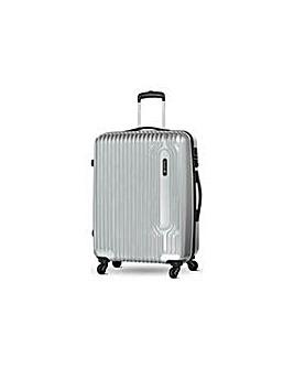 Large 4 Wheel Hard Suitcase - Silver