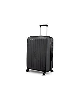 Medium 4 Wheel Hard Suitcase - Black