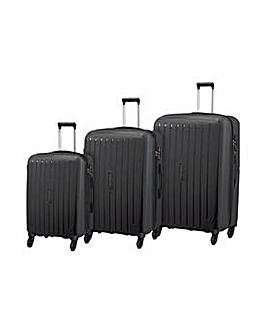 Small 4 Wheel Hard Suitcase - Black