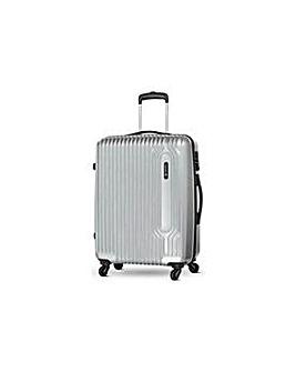 Medium 4 Wheel Hard Suitcase - Silver