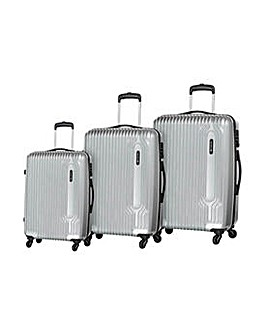 Small 4 Wheel Hard Suitcase - Silver