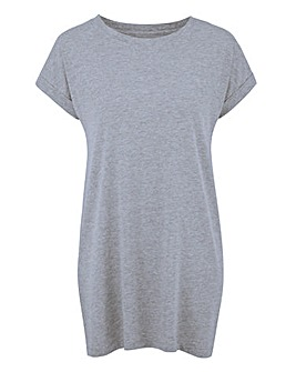 Grey Marl Boyfriend T-Shirt