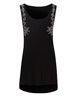 Embellished Sleeveless Tunic
