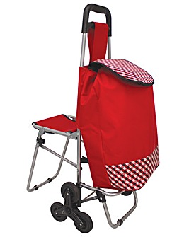 A/L Shopping Trolley with Fold down Seat