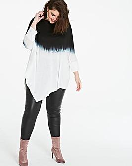 Dip Dye Asymmetric Tunic