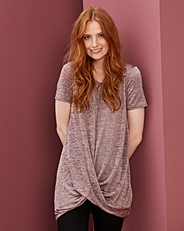 Metallic Twist Hem Tunic