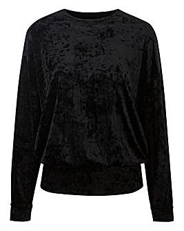 Crushed Velour Sweatshirt