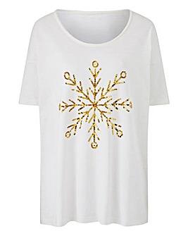 Snowflake Sequin Top
