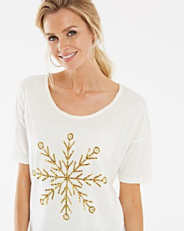 Snowflake Sequin Top