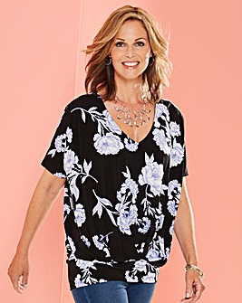 Pleat Front Hem Top
