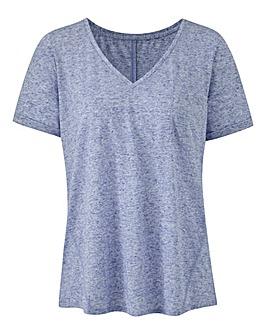 Blue Linen Blend T-shirt