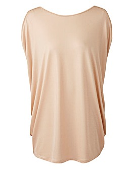 Batwing Metallic Top