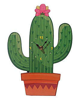 Cactus Shaped Clock