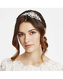 Alan Hannah Silk Flower Crystal Headband