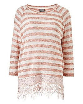 Vero Moda Almond Rose Lace Jumper