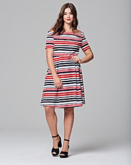 Lovedrobe Bardot Skater Dress